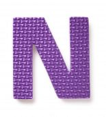 Letter N isolated on the white background