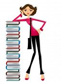 picture of girl reading book  - Girl Student  - JPG