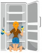 Cleaning Refrigerator - Vector