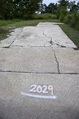 image of katrina  - Empty lot with number after Hurricane Katrina - JPG