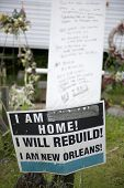 foto of katrina  - Sign in yard after Hurricane Katrina - JPG
