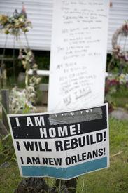 pic of katrina  - Sign in yard after Hurricane Katrina - JPG