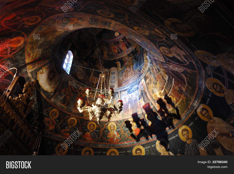 Wall Pintings Inside Holy Trinity Rock Monastery (agia ...