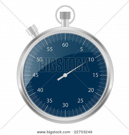Stopwatch Silver And Blue