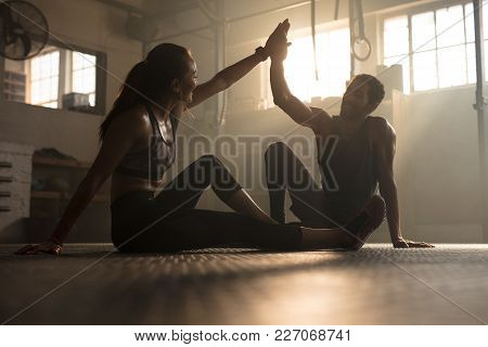 poster of Healthy People After Successful Exercising Session