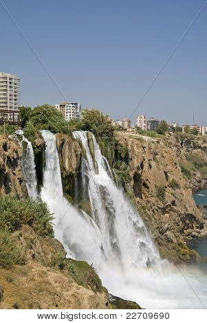 Düden Waterfalls At Antalya, Turkey