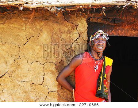 Portrait Of Masai Mara Warrior