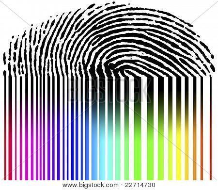Fingerprint And Barcode - biometry
