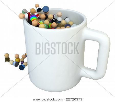 Cartoon Crowd, Mug