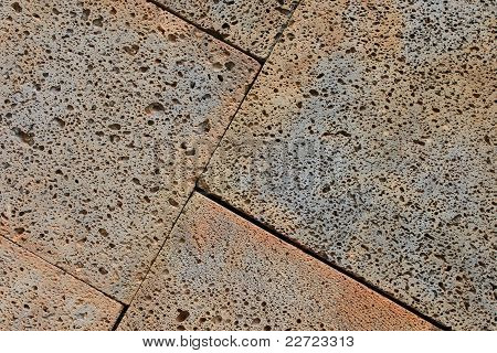 Close-up Of Grey And Brown Paving Stones