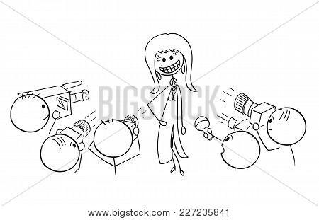 Cartoon Stick Man Drawing Illustration