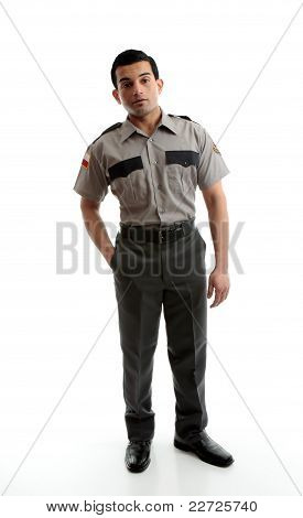 Male Worker In Uniform