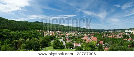 Panorama of Miskolc from the tower of the Fort Diosgyor