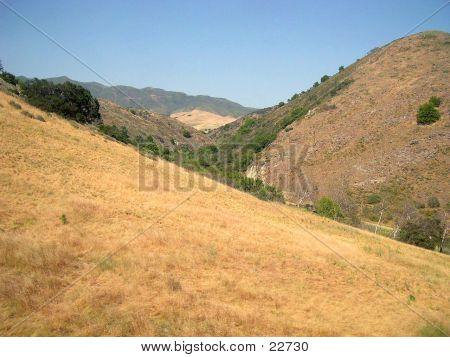 California Hills From Amtrak
