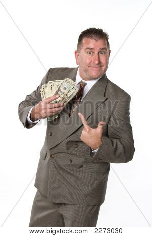 Businessman And His Cash