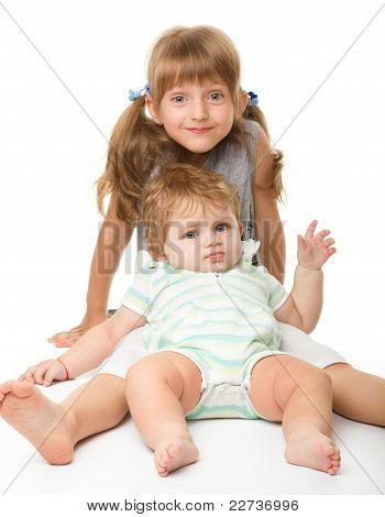Two Children Are Having Fun