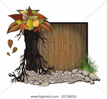 raster Board wood stone tree