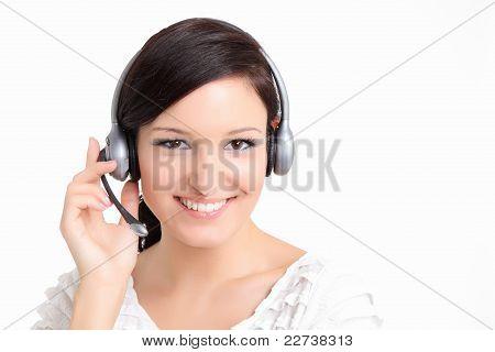 Smiling support technician women