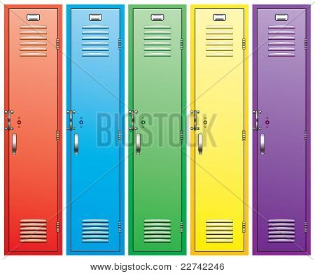 Colorful School Lockers