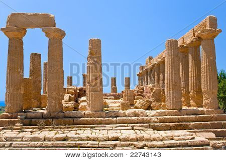 Temple Of Juno In Valley Of The Temples In Agrigento