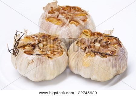 Garlic With Rosemary Grilled