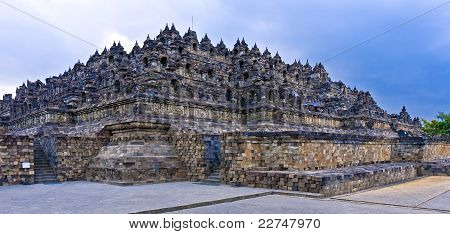 Borobudur Buddhist temple, Java Indonesia
