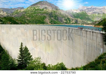 Dam Emosson-Swiss Alps