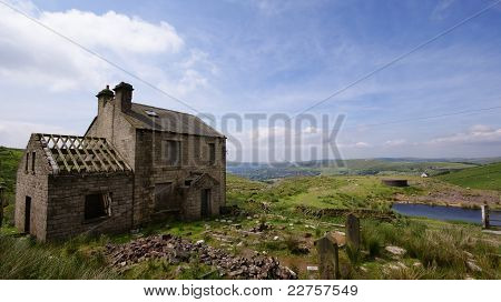Derelict Building looking over the Moors