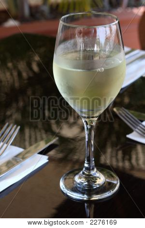 White Wine At Restaurant