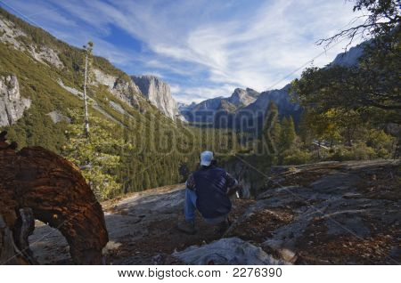 Man Photographing Yosemite