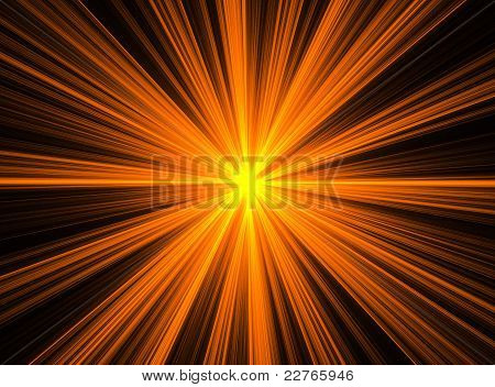 Abstract Orange Fractal Explosion