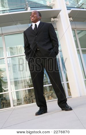 Business Man Outside Office