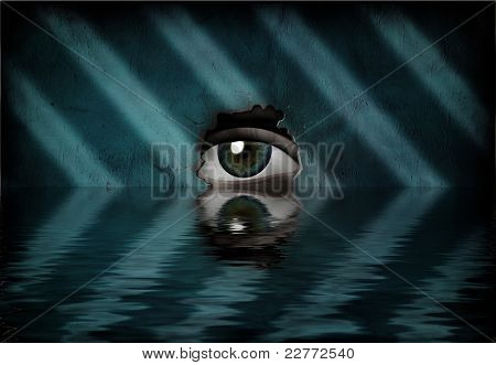 Pool and eye