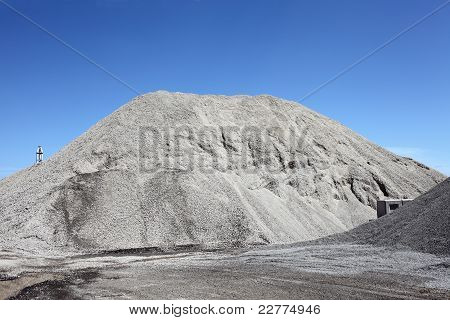 gravel gray mound quarry