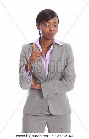 Thumbs Up Beautiful Ethnic African Business Woman