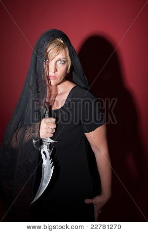 Veiled Woman With Athame