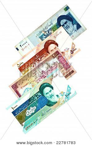 the Currency of Iran republic various bills