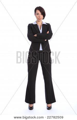 Beautiful Serious Young Business Woman In Suit