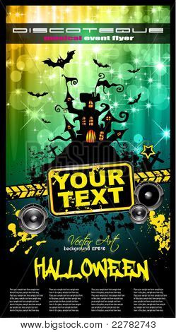 Suggestive Hallowen Party Flyer for Entertainment Night Event with a lot of space for your text.