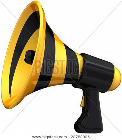 Megaphone news announcement