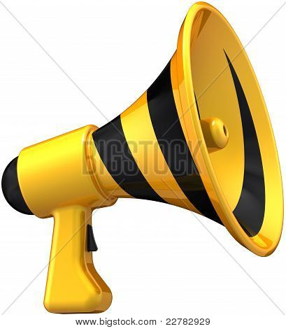 Megaphone announcement stylish icon