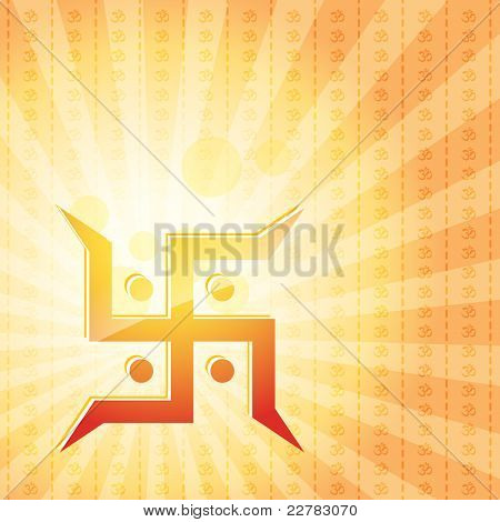vector swastik symbol background
