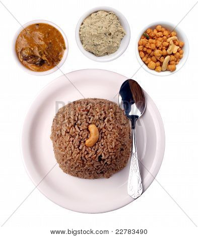 Indian Rice Dish With Clipping Mask