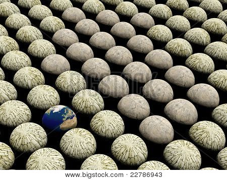 Sphere space background