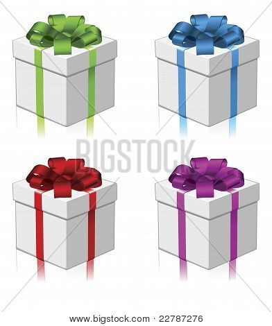 Gift Or Present Four Colors