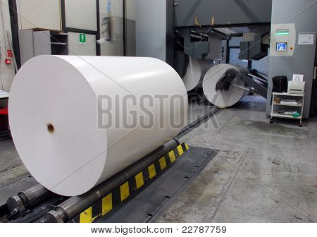 Printing Plant: Web (rolls) offset press