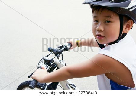 Cycling Boy Ready To Go!