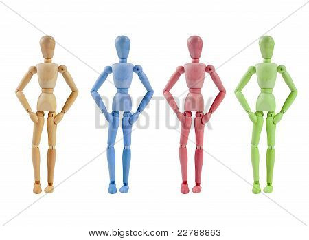 Collection of Artist mannequin in various colors