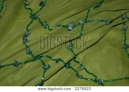 Fabric With Beads And Stones