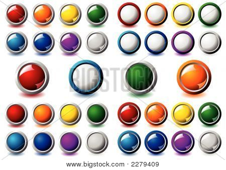 Metallic Frame Buttons